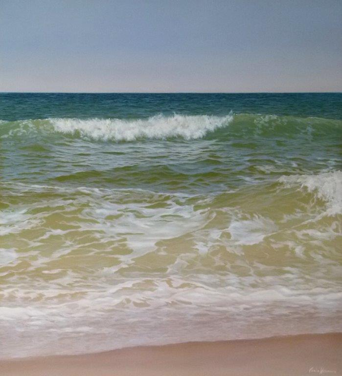 Beach Waves 120x110cm